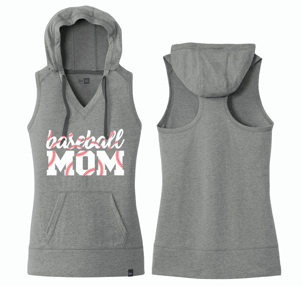 Mom's Hooded Baseball Tank