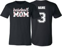 Baseball Mom Stitching (Black)