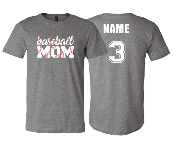 Baseball Mom Stitching (Gray)