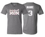Baseball Mom Stitching Unisex V-NECK (Grey)