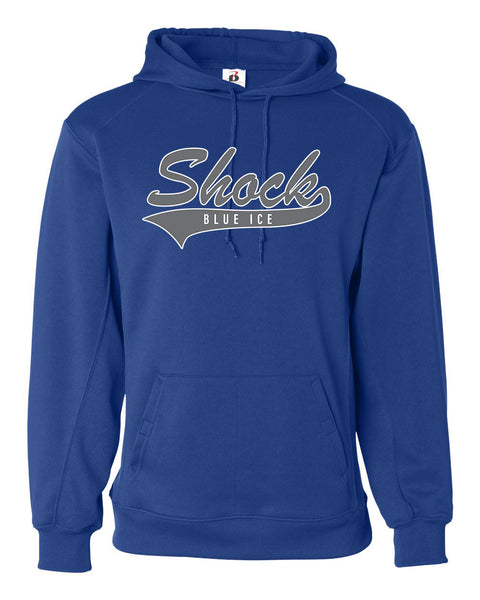 Blue Ice Shock Badger Hoodie