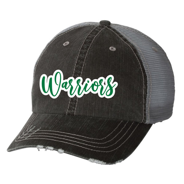 Warriors Text Vintage Trucker Hat