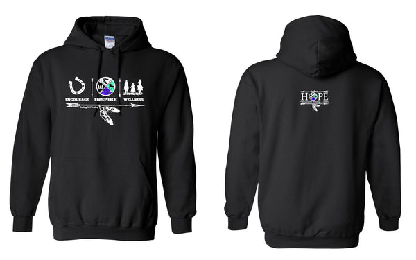 Hope Riding Encourage Inspire Wellness Hoodie