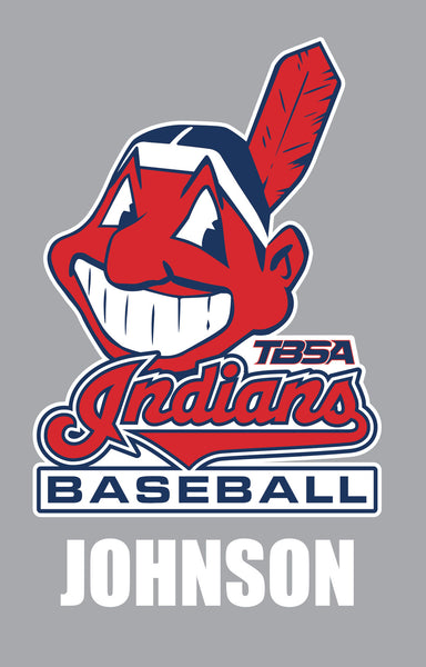 INDIANS BASEBALL DECAL