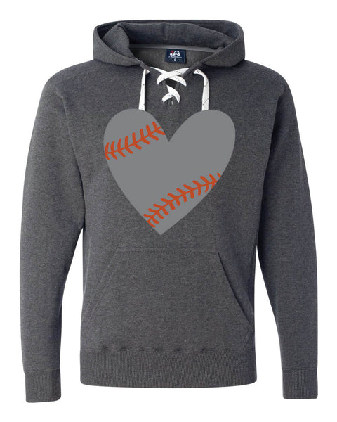 HITTING CENTER LACE UP HOODED SWEATSHIRT (8830)