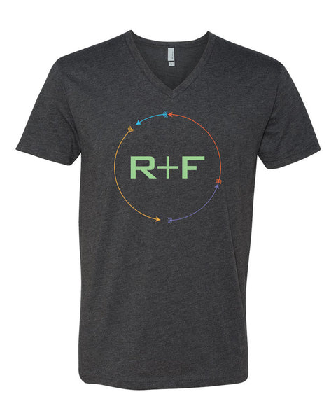 R+F Arrow Logo Fitted V-Neck