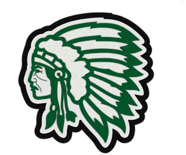 VARSITY WARRIORS HEAD PATCH