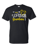 Softball Grandma Heart & Arrow