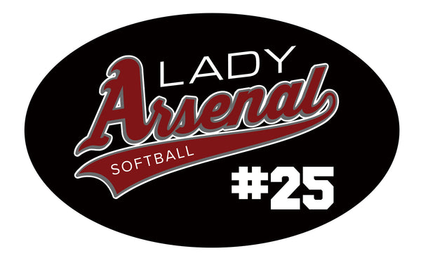 LADY ARSENAL CAR WINDOW DECAL