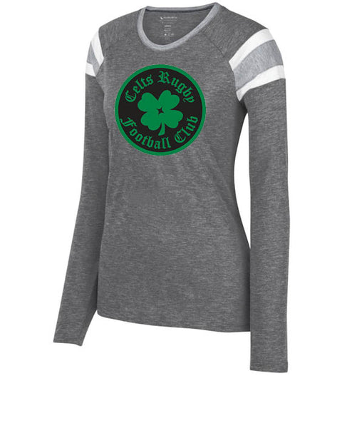 CELTS RUGBY Ladies Long Sleeve Fan Shirt