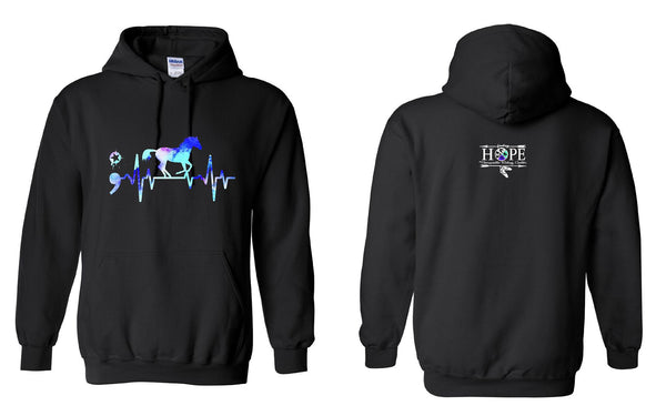 Hope Riding Horse Heartbeat Hoodie