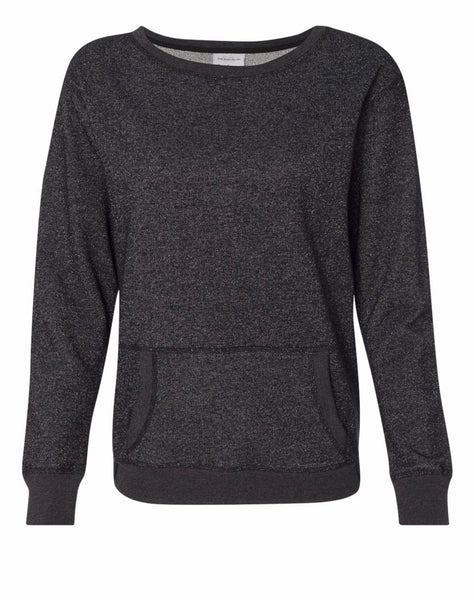 Women's Glitter French Terry Sweatshirt (8867)