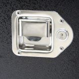 Key Locking Bright Polished Stainless Steel Latch. CHANDLER