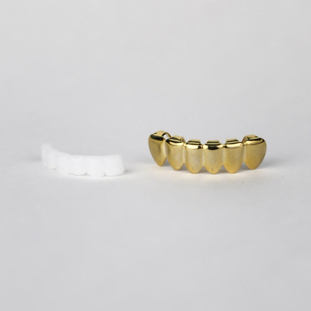 gold bottom grill and mold