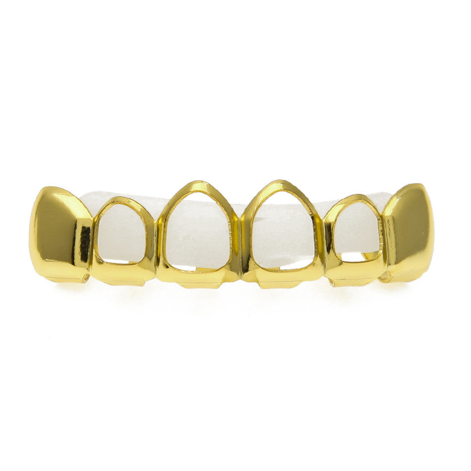 Hollow Rose Gold Vampire Grillz
