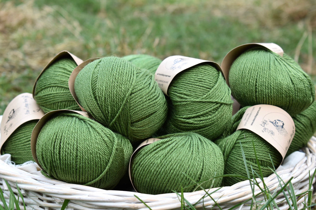 Moss - going green with a rich woodland shade of yarn