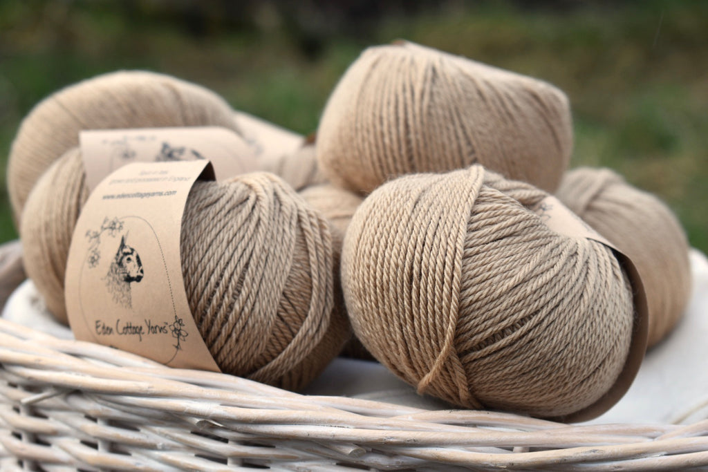 Autumn Fields - yarn with a heart of beautiful soft gold