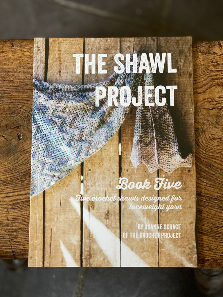 Introducing: The Shawl Project Book 5 from The Crochet Project, featuring laceweight yarn!