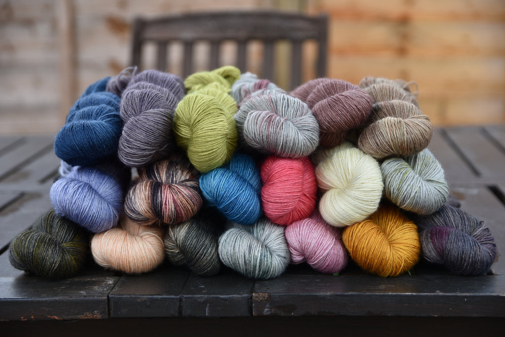Preview of Friday's hand dyed yarn update: Bowland 4ply