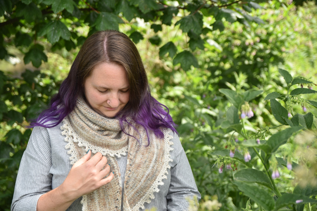 Ways with crescent shaped shawls: how to wear them