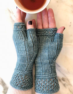 Boardwalk Stroll Fingerless Mitts by JST Designs