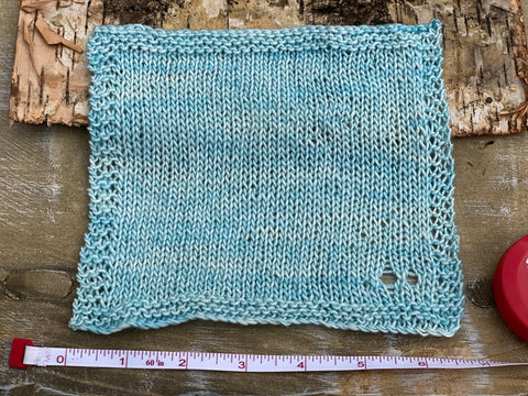 A knitted square