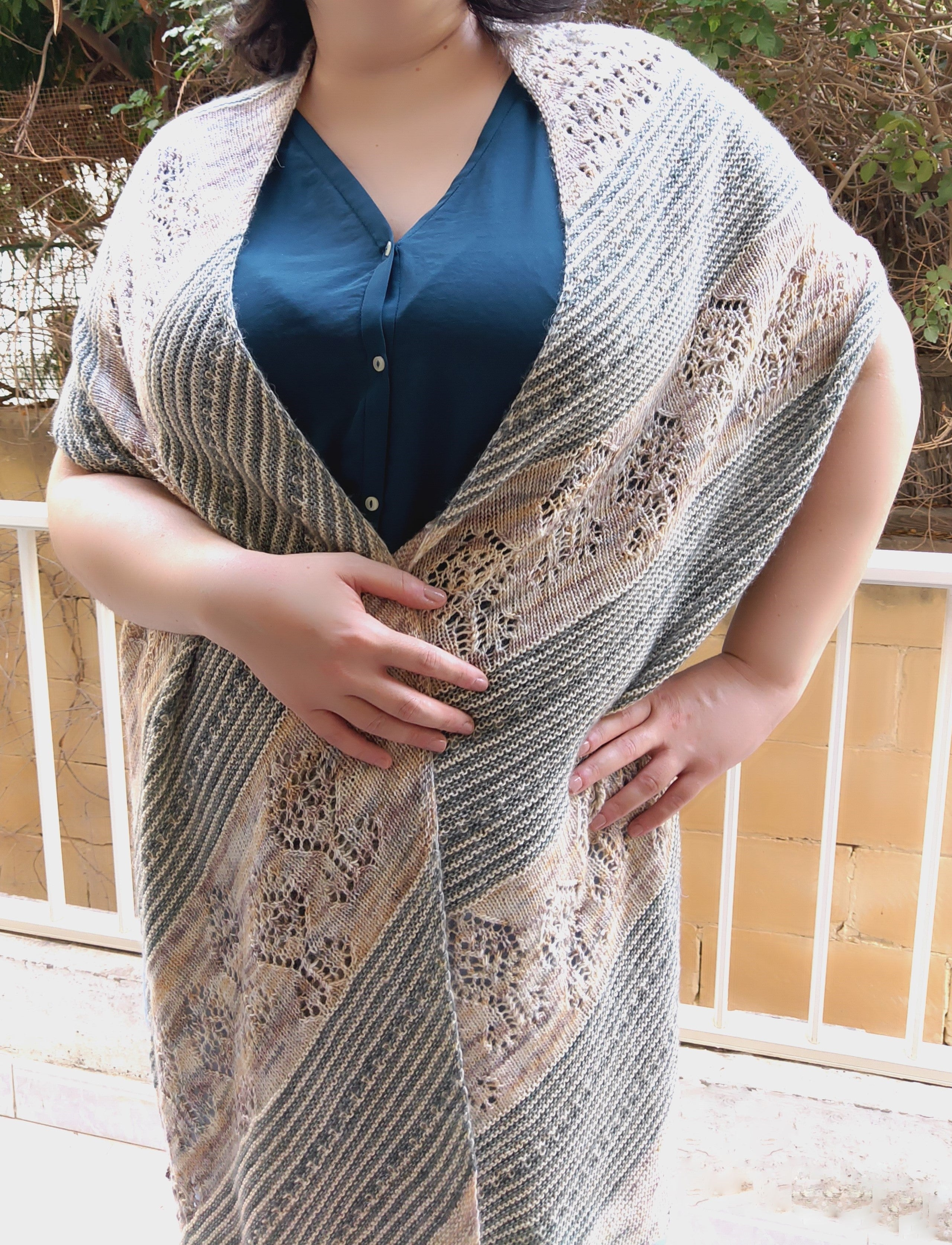 Whimsical Lane Wrap by Bex Knitty Designs