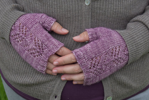Willow Fingerless Mitts by Victoria Magnus