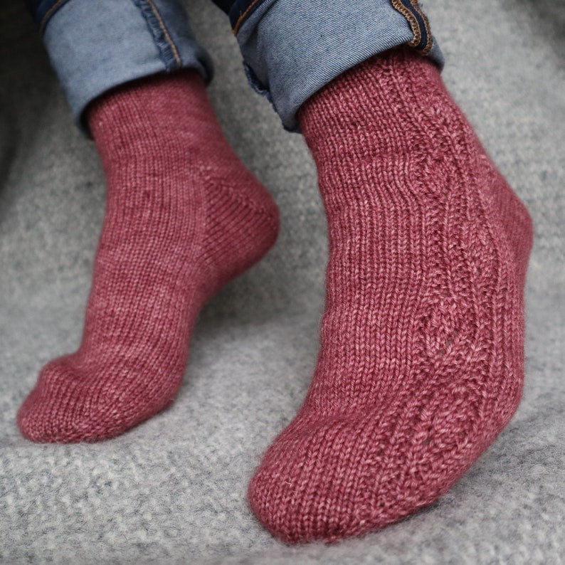 Egremont Russet socks by Louleigh