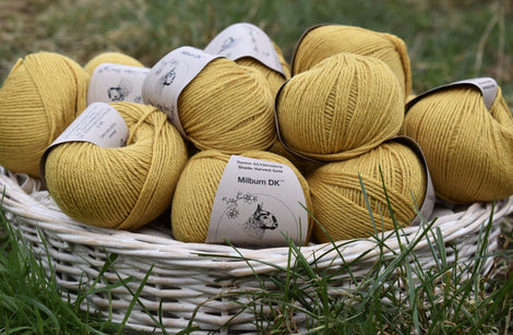 Milburn DK™ British Bluefaced Leicester/Silk in Harvest Gold; 50g ball