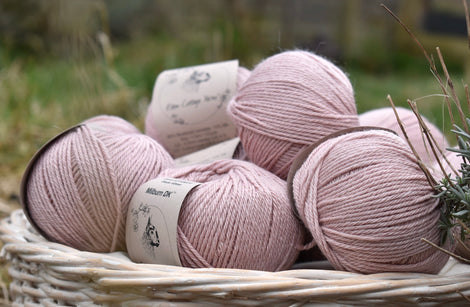 Milburn DK™ British Bluefaced Leicester/Silk in Althaea; 500g pack