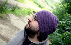 Serriform knitted hat kit in Milburn 4ply