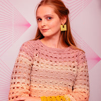 Open Grid Sweater by Claire Montgomerie for Inside Crochet: Yarn pack only