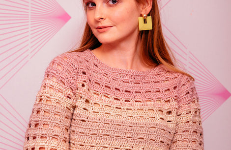 Open Grid Sweater by Claire Montgomerie for Inside Crochet: Yarn pack only - pick your own colours