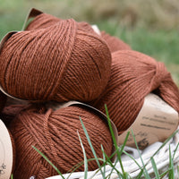 Milburn DK™ British Bluefaced Leicester/Silk in Rust; 500g pack