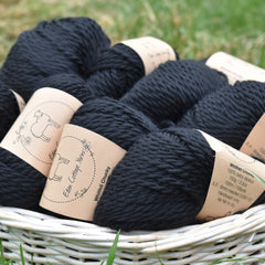 Whitfell Chunky 100% baby alpaca in Coal