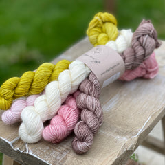 Five mini skeins
