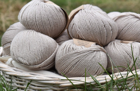 Milburn DK™ British Bluefaced Leicester/Silk in Wicker; 50g ball