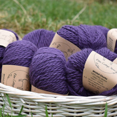 Whitfell Chunky 100% baby alpaca in Damson (500g pack)