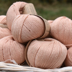 Milburn DK™ British Bluefaced Leicester/Silk in Tea Rose; 50g ball