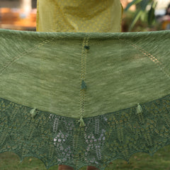 Echoing Green by Jayalakshmi: knitted shawl add-on kit