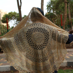Sun and Shower by Jayalakshmi: knitted shawl kit