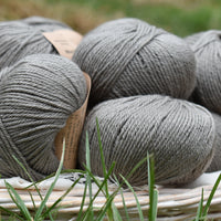 Milburn DK™ British Bluefaced Leicester/Silk in Steel; 500g pack