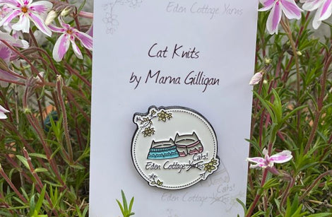 ECY Cats in Cat Knits Pin Badge