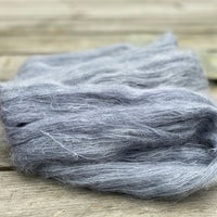 Fluffy grey-blue yarn