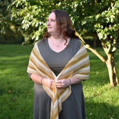Cornhill: knitted shawl kit