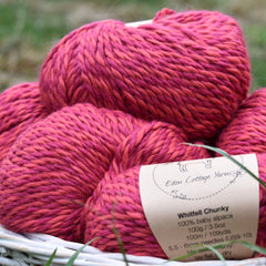 Whitfell Chunky 100% baby alpaca in Tulip (500g pack)