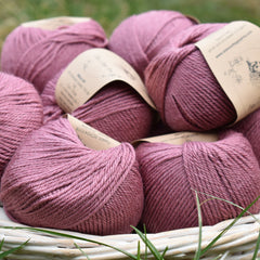 Milburn DK™ British Bluefaced Leicester/Silk in Bramble; 500g pack