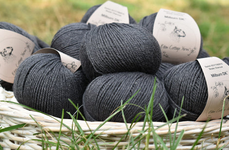 Milburn DK™ British Bluefaced Leicester/Silk in Charcoal; 500g pack