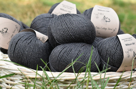 Milburn DK™ British Bluefaced Leicester/Silk in Charcoal; 50g ball